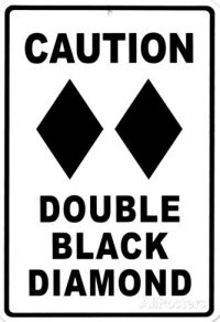 BGGC Caution Double Black Diamond